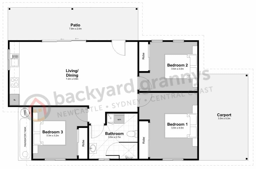 Backyard Grannys Floorplan