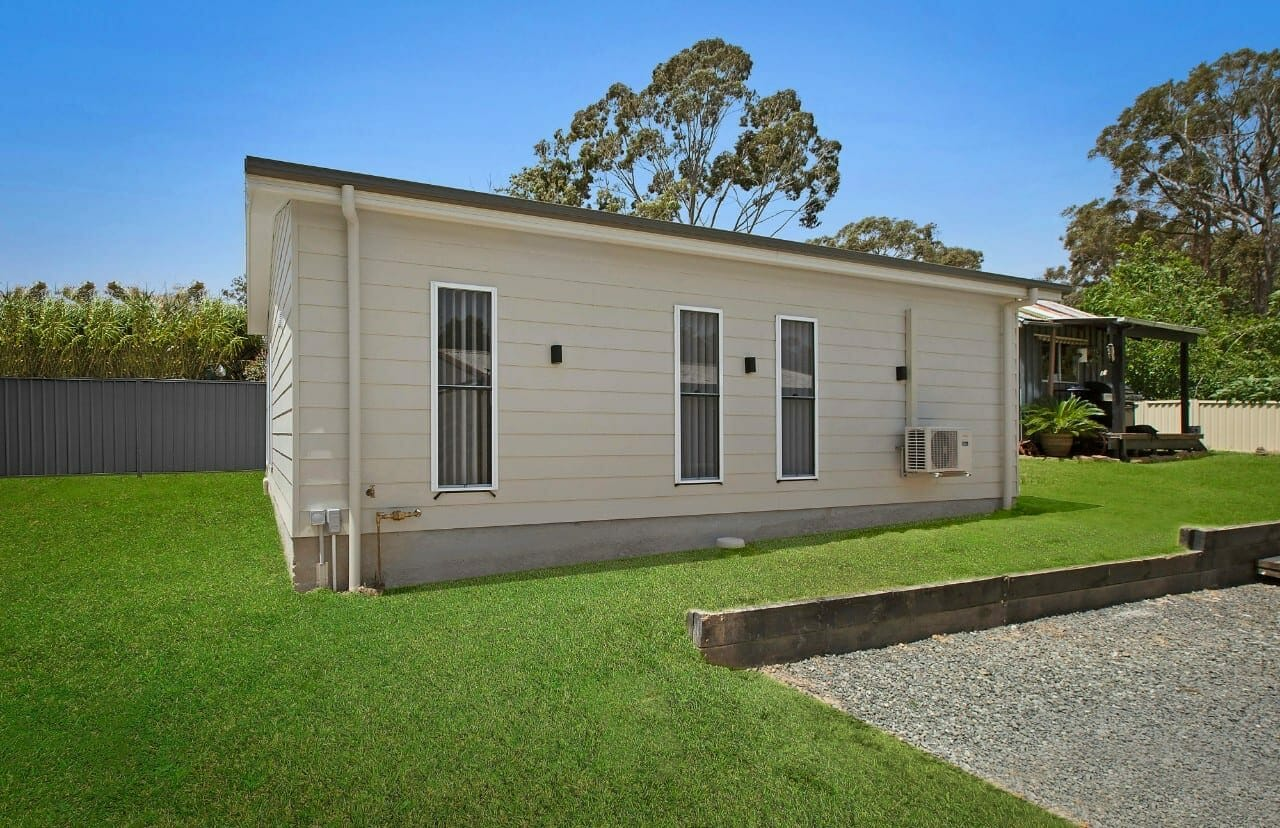 side exterior of Wyee granny flat